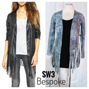 NWT ~ SW3 BESPOKE Boho Faux Suede Fringe Jacket